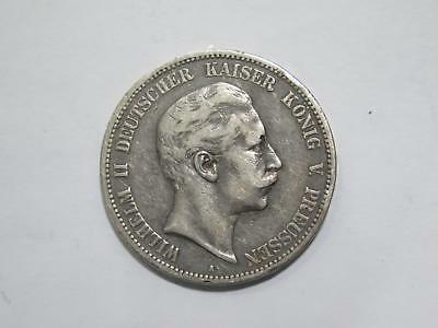 1900 A Germany 5 Funf Mark Deutsches Reich Silver Coin Old World Collection Lot