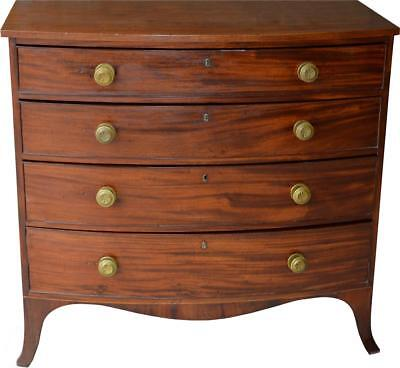 2935 Hepplewhite Period Bow Front Country Chest