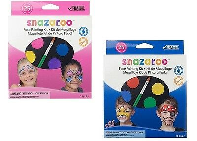 SNAZAROO Face Painting Kit 11 pieces Up To 25 Faces Choose One MADE IN UK