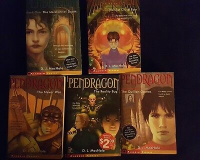 Pendragon by D. J. MacHale, Lot of 5, Books  #1, 2, 3, 4, 7