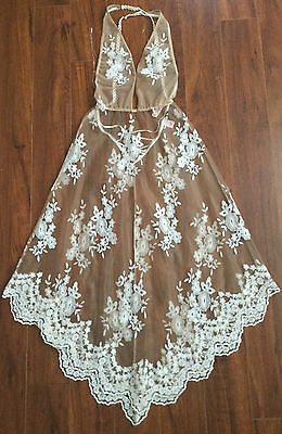 NWT Victorias Secret Dream Angels Floral Embroidered BabyDoll Bridal Nightgown L