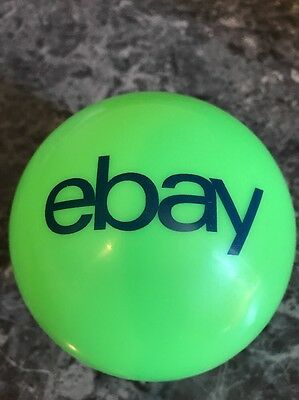 Small Green eBay Bounce Bouncy Bouncing Ball Navy Blue Logo 100% For Charity