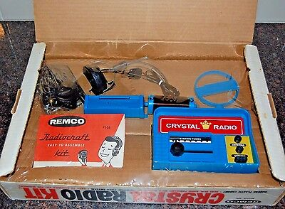 Vintage 1967 Remco Crystal Radio Kit Model # 106