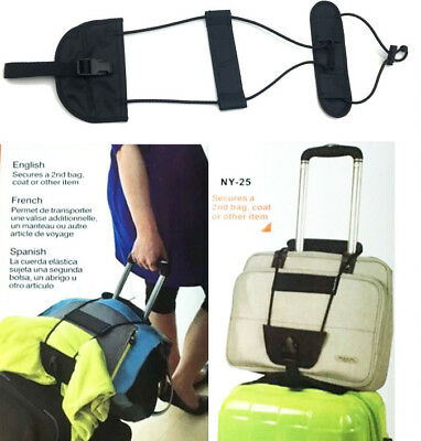 Add Adjust Travel Luggage Suitcase Belt Add A Bag Strap Carry On Bungee Travel