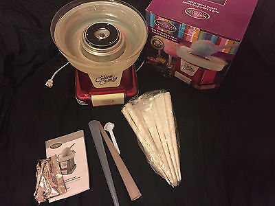 Nostalgia Electrics  Hard Sugar Cotton Candy Maker machine cones bags commercial