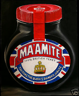 """MARMITE Limited Edition PRINT of an Original Oil Painting wall Art Giclee 10x8"""""""