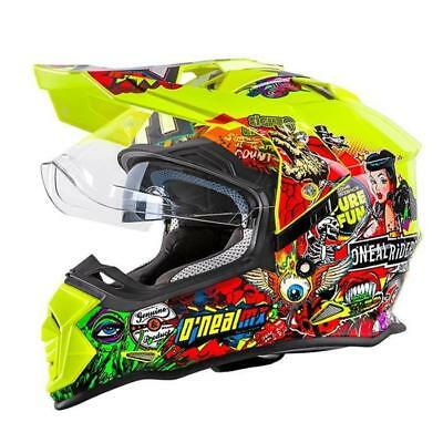 Oneal Sierra ll Crank Motocross Helmet - Yellow-Multi MOTOCROSS ENDURO MX Cross