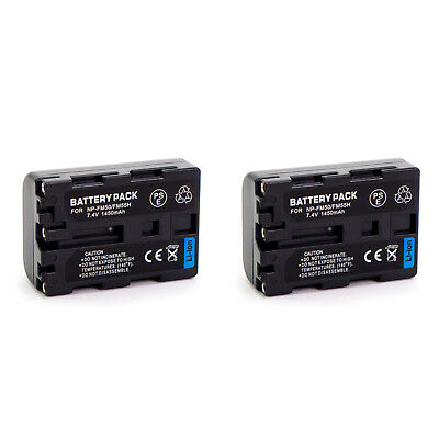 2 x NP-FM50 NPFM50 battery for Sony camera camcorder Handycam Alpha DSLR A100