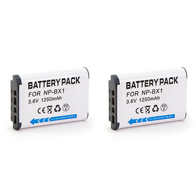 2 x NP-BX1 NPBX1 battery for Sony Action Cam & Cyber-shot camera RX100 IV RX1R