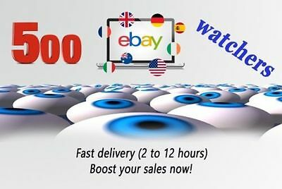 I will give you 500 eBay watchers and views for your listings