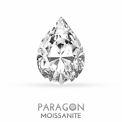 Paragon Moissanite Loose Pear Cut Best Diamond Alternative - Buy Now !