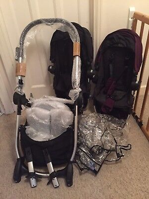 Baby Jogger 'City Select' Twin Pram With Accessories