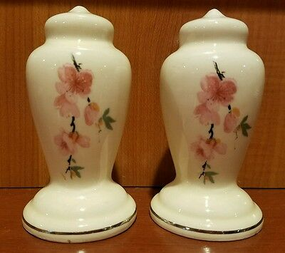 W S George SALT & PEPPER  PEACH BLOSSOM Shakers