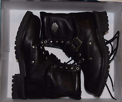 Harley Davidson Boots Mens 7.5 / Womens 9.5 Stock 91003 Lace Up