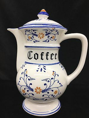 """Vintage Heritage by Royal Sealy 9"""" Porcelain Coffee Pot with Lid Japan"""
