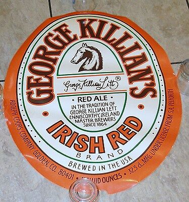 BIG Coors, Killian's Irish Red Bottle Label Bar Promo Poster, from 80's.