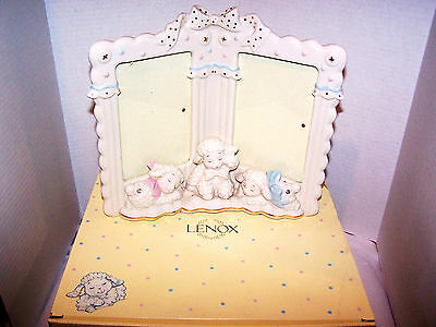 Lenox Lazy Lambs Double Picture Frame -  24K Trim, New - In Box! Beautiful!!