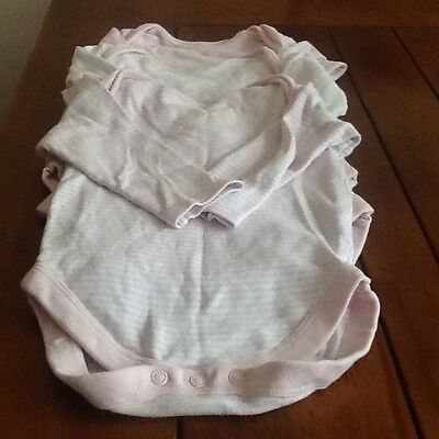 Baby girls next long sleeved bodysuits 9-12 months