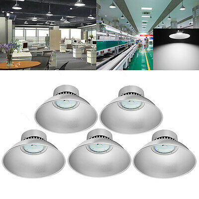 5X 50W LED High Bay Light  Lamp Factory Warehouse Industrial Roof Shed Lighting