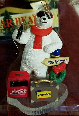 Coca-Cola Polar Bear Collection Ornament Polar Bear Hollywood Bound in box