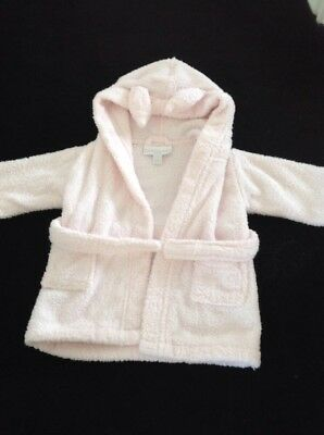 Little White Company Pink Dressing Gown, 0-6 Months