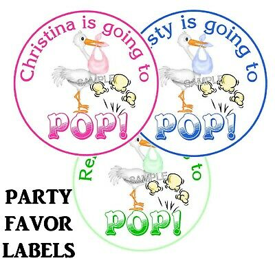20 Going To Pop Ready To Pop Baby Shower Favors Popcorn Labels Stickers