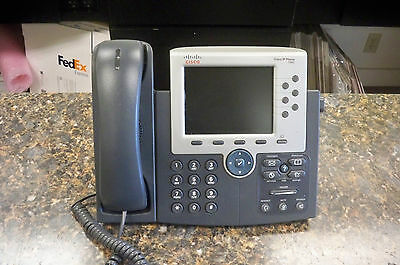 Cisco CP-7965G 7965 IP VoIP Business Phone with handset & stand