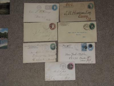 US Postal Stationary, used, some with Advertising . Lot PS10
