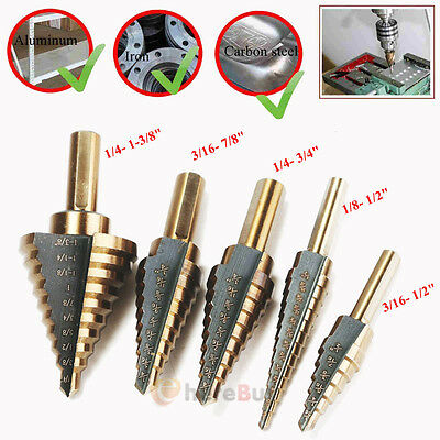 5Pcs Cobalt Multiple Hole 50 Sizes Step Drill High Speed Steel Bit Set Tools