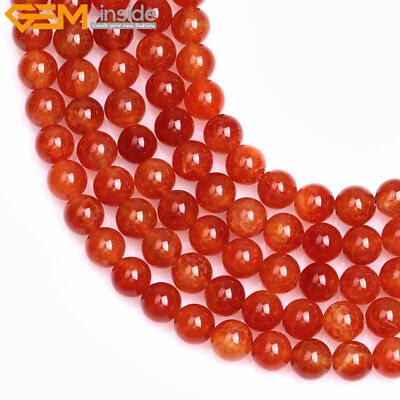 "Round Crackle Red Agate Stone Loose Beads Jewelry Making Strand 15"" Wholesale"