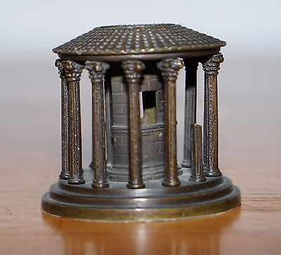 Lovely Circa 1870 Solid Bronze Grand Tour Model Of The Temple Of Vesta Rome