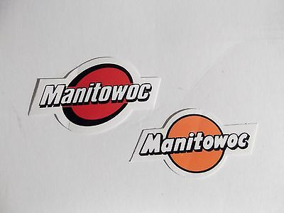 Oilfield Manitowoc Crane Hardhat stickers Union Iron Workers Mining Sticker