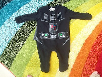 boys baby star wars sleepsuit with cape never been worn age first size newborn
