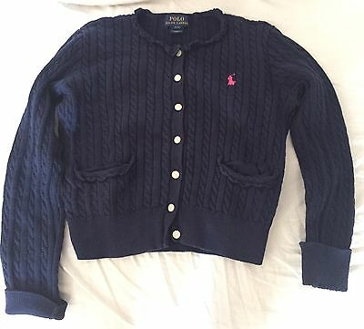 Polo Ralph Lauren Bambina maglione Taglia 7/girls' Sweater Size 7 Yrs