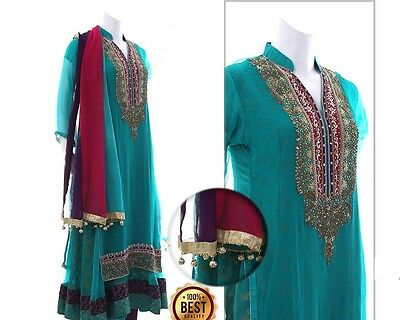 Pakistani Fancy Ready-Made Designer Party Wear Shalwar/ Kameez Suit (Stitched)