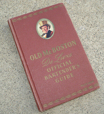 1946 Old Mr Boston Deluxe Official Bartender's Guide Booze Mix Drink Hardcover