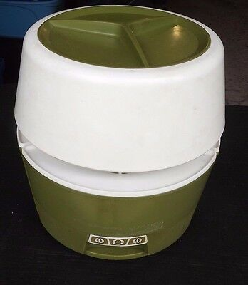 VINTAGE AVOCADO GREEN 1970s RETRO RUBBERMAID LAZY SUSAN CAROUSEL CANISTER SET