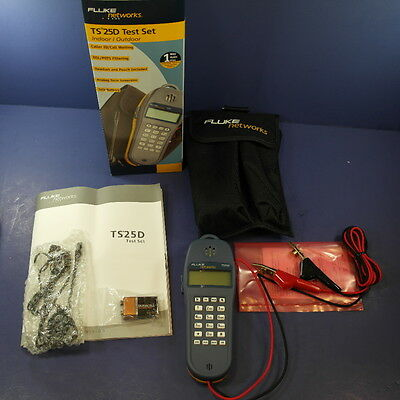 Brand New Fluke TS25D Test Set with pouch and original box
