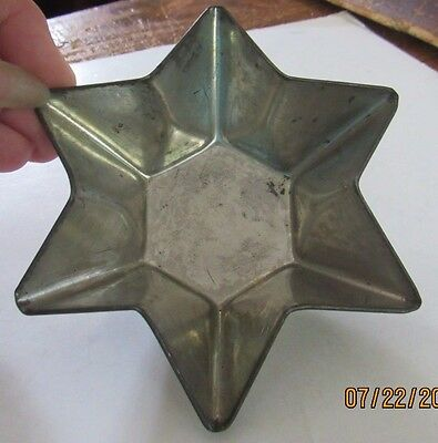 Lot of six vintage molds in a 6 pointed star shape