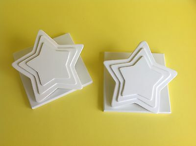 Baby Nursery Quilt Clips Wall Hangers - White Stars, baby room decor