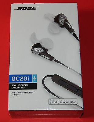 Bose QuietComfort 20i In-Ear Gray Headsets Headphones for Apple 362544-0010 NEW