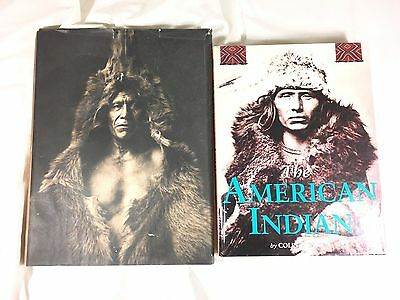 Lot of 2 Books Native Nations & The American Indian HC Books Curtis