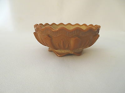 Antique Deep Chocolate MUST SEE Greentown Cactus Bowl Dish NR