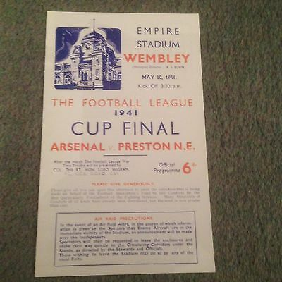 Replica Copies - Wartime Football Programme - 1941 - 1945. From £1.99