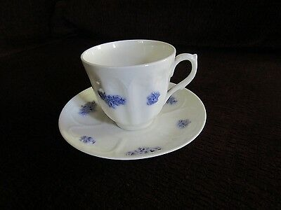Adderley Fine Bone China England Cup and Saucer Set Blue Chelsea Thistle