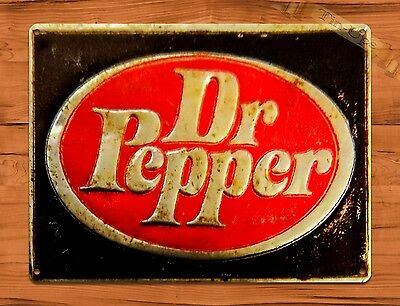 "TIN SIGN ""Dr. Pepper"" Rustic Soda Cola Kitchen Wall Decor"