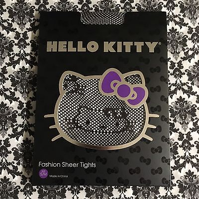 New In Package Black Fishnet Hello Kitty Tights S/M.