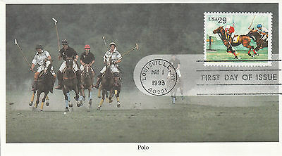 US stamp covers, 1993 FDC, Polo, First day of Issue
