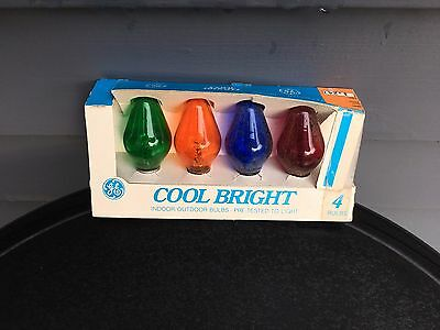 Vintage Christmas lights replacement bulbs clear colors Cool Bright GE C7 tested
