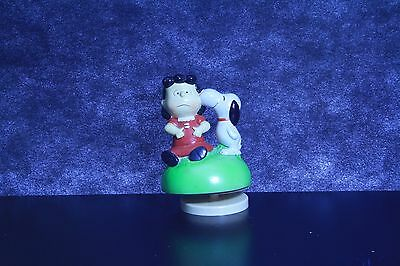 1968 Snoopy music box ceramic Charlie Brown Peanuts lot of 2 Lucy Close to You